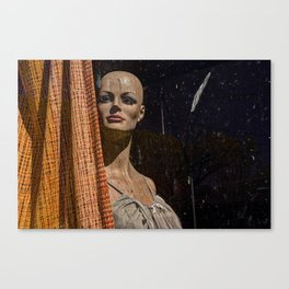 Beauty Behind The Curtain Canvas Print