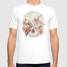 Life in Your Eyes White SMALL Mens Fitted Tee