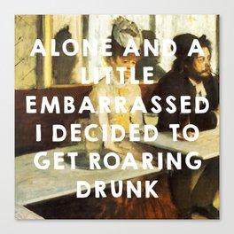 The Absinthe Drinker (1859), Édouard Manet // The Great Gatsby (2013), Baz Luhrmann Canvas Print