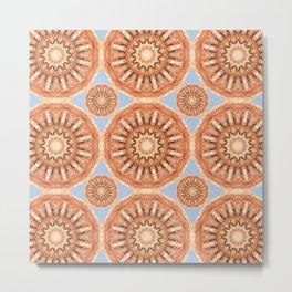 Rust-Art / Colors of Rust / mandala-style-rust Metal Print