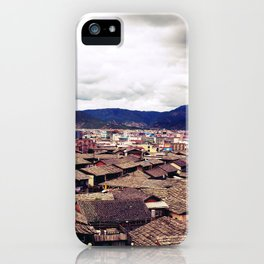 Ancient Chinese cityscape iPhone Case