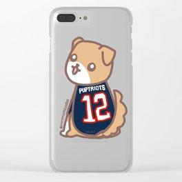 Dodger Puptriot Clear iPhone Case