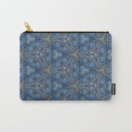 swirl blue pattern Carry-All Pouch