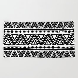 Aztec Ethnic Pattern Art N3 Beach Towel