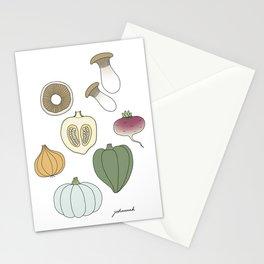 Vegetables (color) Stationery Cards