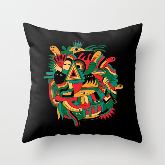 The world Throw Pillow