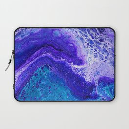 Purple Wave of Seafoam Laptop Sleeve