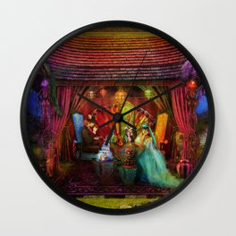 A Mad Tea Party Wall Clock