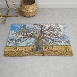 Boab and clouds Rug