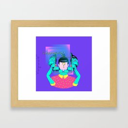 who are you ? Framed Art Print