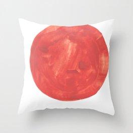 23    | 200130 | Circle | Moon | Watercolor Painting |  Watercolor Art | Minimalism | Minimalist Art Throw Pillow