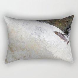 Leaping Salmon Rectangular Pillow