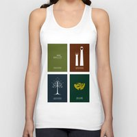 the lord of the rings Tank Tops featuring Lord of the Rings - Complete Minimalist Collection by Jamesy