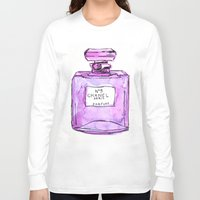 perfume Long Sleeve T-shirts featuring perfume purple by watercolor & ink
