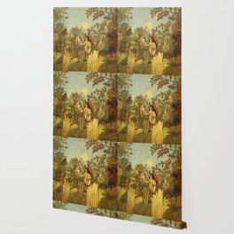 "Henri Rousseau "" Eve in the Garden of Eden"", 1906-1910 Wallpaper"