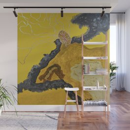Yellow Storm Wall Mural