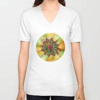 gypsy V-neck T-shirts featuring Gypsy Dance by Klara Acel