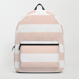 Blush Pink and White Stripes Backpack