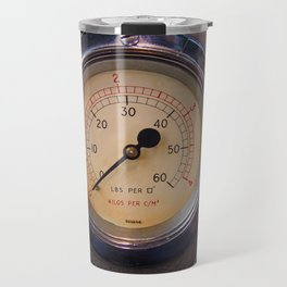 control - vintage industrial dials and gauges Travel Mug