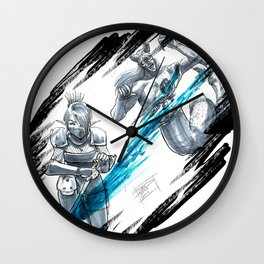 Ninja Slash Wall Clock