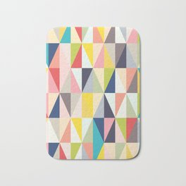 Abstract Geo Diamonds Bath Mat
