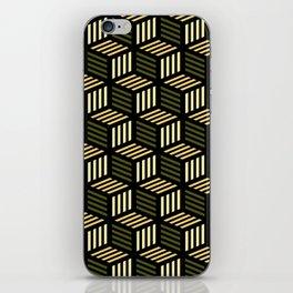 Cubic Olive iPhone Skin