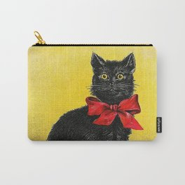 Pretty Black Cat- Vintage Cat Carry-All Pouch