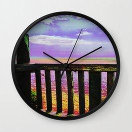 Through rainbow glasses Wall Clock