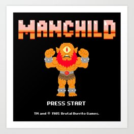8Bit Manchild Art Print