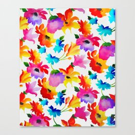 Dancing Floral Canvas Print