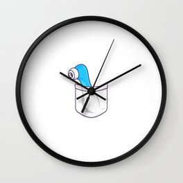 Dildo Pocket Blue Wall Clock
