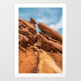 Garden of the Gods Rock Formation Art Print