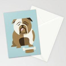 Bulldog - Blue Variant Stationery Cards