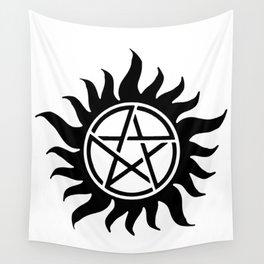 Anti Possession Sigil Black Wall Tapestry