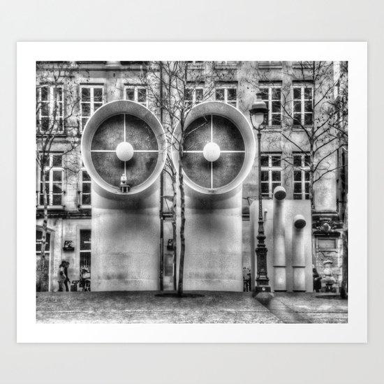 Pompidou center Art Print