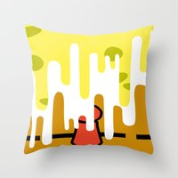 spongebob Throw Pillows featuring Spongebob SquareDrip by JessicaSzymanski