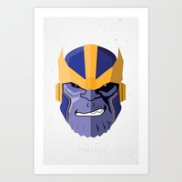 thanos Art Prints featuring Thanos by Micah Lanier