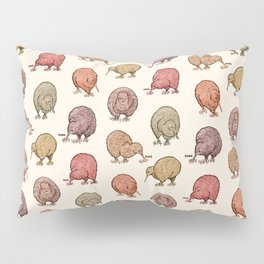Hungry Kiwis – Warm Earth Tones Pillow Sham