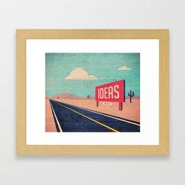 IDEAS FOR SALE Framed Art Print