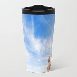 Moscow famous Saint Basil cathedral, Russia symbol Travel Mug