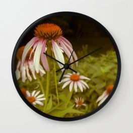 Coneflowers of My Mind Wall Clock