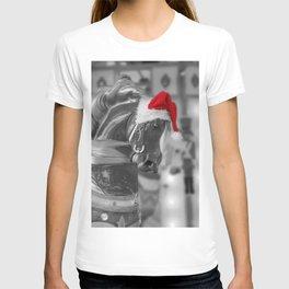 Santa Horse 6 BW T-shirt