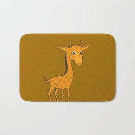 Giraffe - Sepia Brown Bath Mat