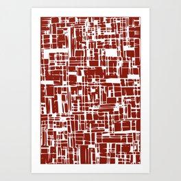 Crimson red abstract Art Print