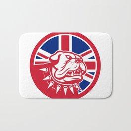 British Bulldog Head Union Jack Flag Icon Bath Mat