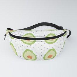 Minimal Avocado and Polka Dot Pattern Fanny Pack