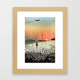 Sheep Flights For The Humdrum Jetset Framed Art Print