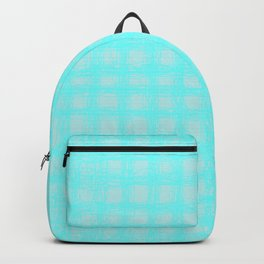 woven cables, blue Backpack