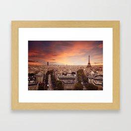 Paris Has My Heart Framed Art Print