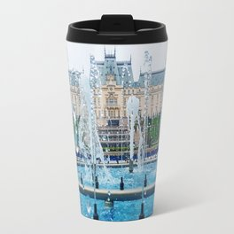 blue palace fountain Travel Mug